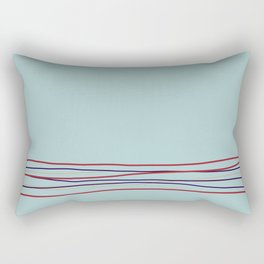 Multi Colored Scribble Line Design Bottom V4 Rustoleum 2021 Color of the Year Satin Paprika & Accent Rectangular Pillow