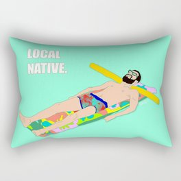 Local Native - Music Inspired Fan Art Digital Drawing Rectangular Pillow