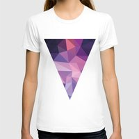 polygon T-shirts featuring VIOLET POLYGON by Crimson-Shark