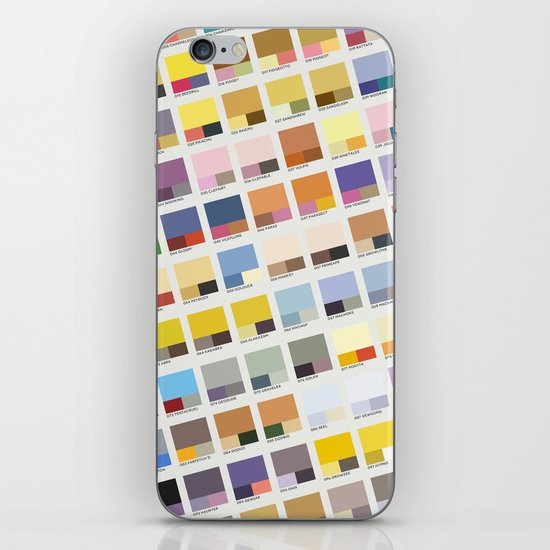 Poke-Pantone 1 (Kanto Region) iPhone & iPod Skin
