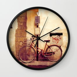 Bicycle Red Wall Clock