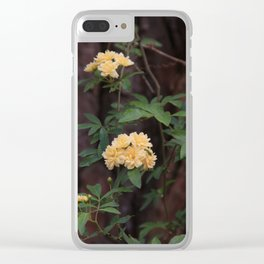 Yellow  Blooms Clear iPhone Case