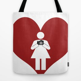 T-Shirt I Love Photography  (Girl) Tote Bag