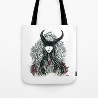 devil Tote Bags featuring Devil by Junkykid