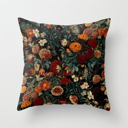 EXOTIC GARDEN - NIGHT XXI Throw Pillow