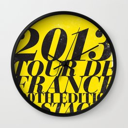 2013 Tour de France: Maillot Jaune Wall Clock