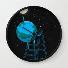 Reach the moon Wall Clock