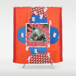 Giants Fight Shower Curtain