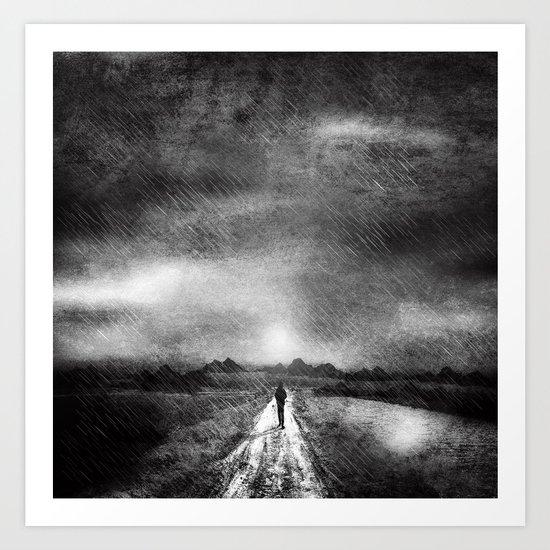 it's raining again (b&w) Art Print