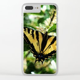 Western Tiger Swallowtail Butterfly Clear iPhone Case