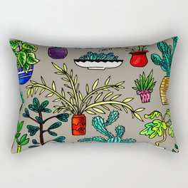 I Want All the Plants Rectangular Pillow