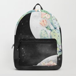 Cactus Nights Prettiest Cactus Full Moon Sky by Nature Magick Backpack