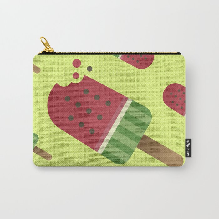 Watermelon Ice Pop Carry-All Pouch