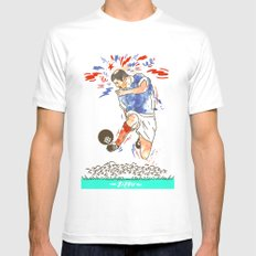 Zizou Mens Fitted Tee White SMALL