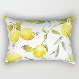 Watercolor lemons 8 Rectangular Pillow