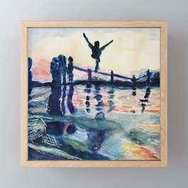 Summer Splash Framed Mini Art Print