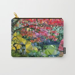Garden Landscape Low Poly Geometric Triangle Art Carry-All Pouch