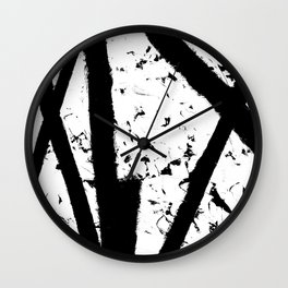 Black lines with White 1 Wall Clock