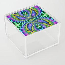 Tribal Rainbow Lotus Acrylic Box