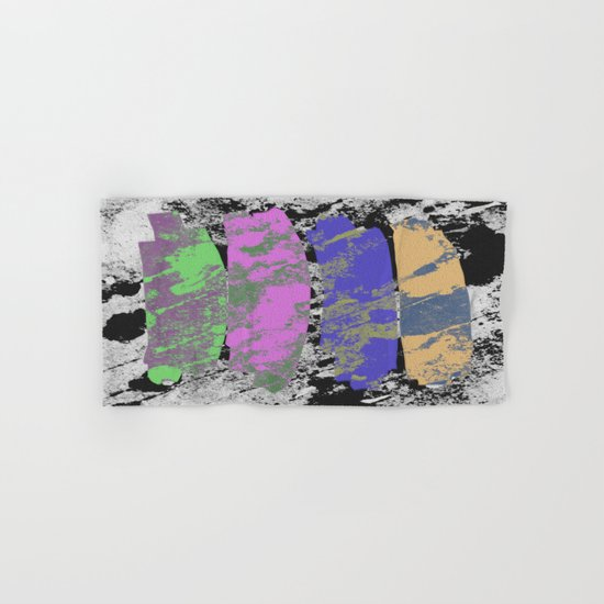 All 4 One - Abstract, textured artwork Hand & Bath Towel