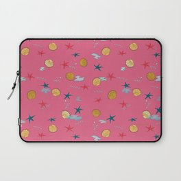 seashells and starfishes - pink Laptop Sleeve