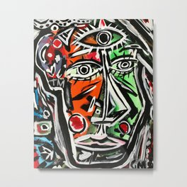 Untitiled - Abstract portrait painting Metal Print