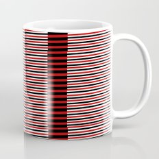 Black and red lines background Mug
