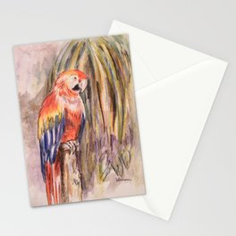 Macaw in Foliage Waterfall  Stationery Cards