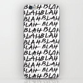 Blah Blah iPhone Skin