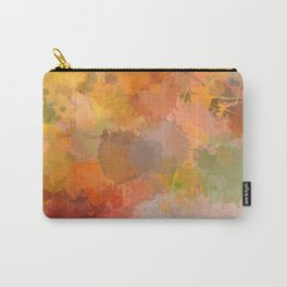 Modern contemporary Yellow Orange Abstract Carry-All Pouch