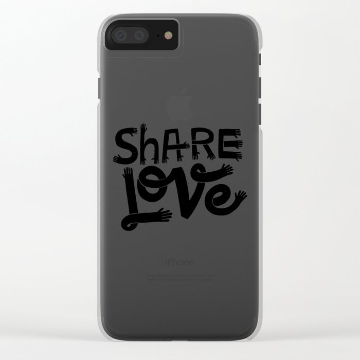 share love Clear iPhone Case