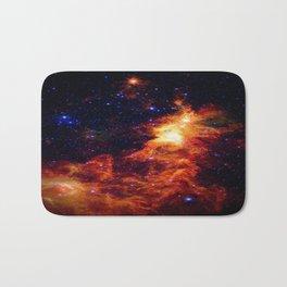 Fiery gAlAXy Indigo Stars Bath Mat