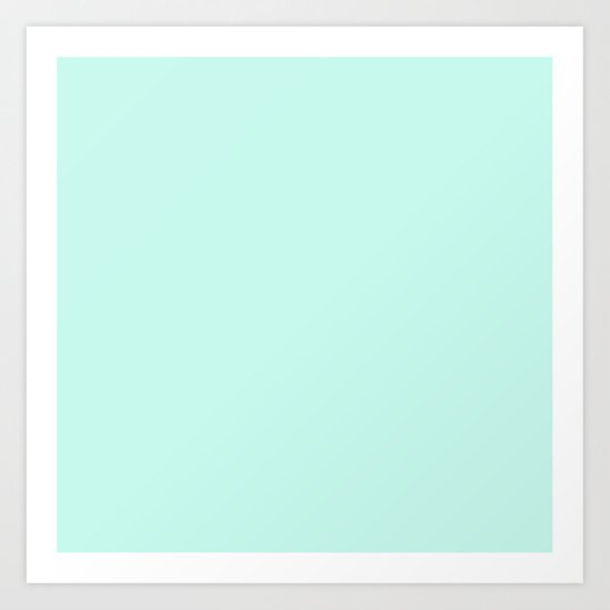 Sea Green Art Print