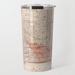 Vintage Railroad Map of Chicago (1871) Travel Mug