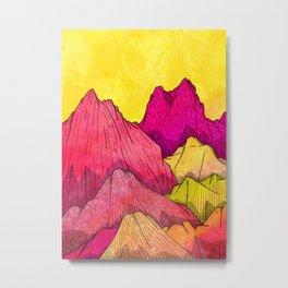 Heat Wave Mountains Metal Print