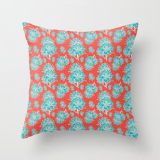 Artichoticka Cyan Throw Pillow