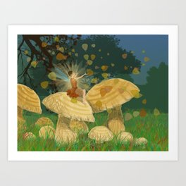 Fall Fairy Art Print