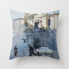 Una Chiesa Throw Pillow