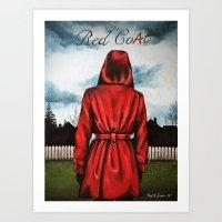 "pretty little liars Art Prints featuring Pretty Little Liars - ""Red Coat"" | Drawing by CorySimpsonArt"