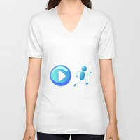 play V-neck T-shirts featuring Play by Cs025