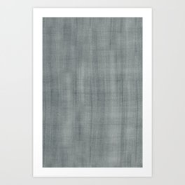 PPG Paint Night Watch Pewter Green Dry Brush Strokes Texture Pattern Art Print
