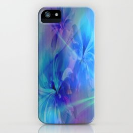 Soft  Colored Floral Lights Beams Abstract iPhone Case