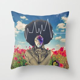 Afro Heartbeat Throw Pillow