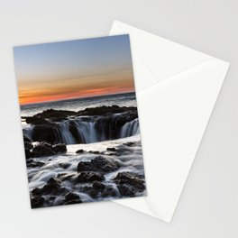 Thor's Well Sunset at Cape Perpetua, Oregon Stationery Cards
