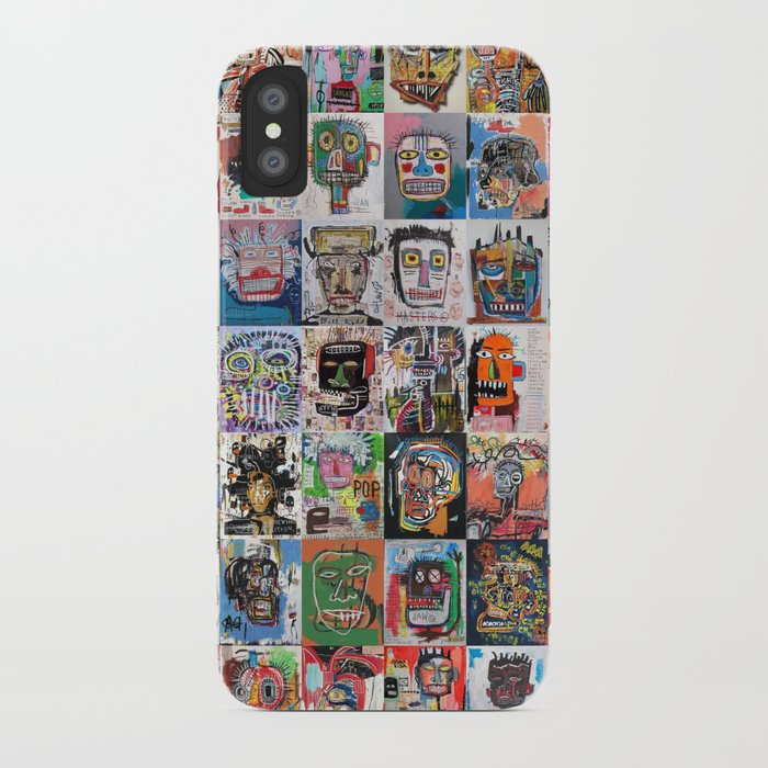 basquiat faces montage iphone case