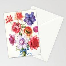 XI. Vintage Flowers Botanical Print by Pierre-Joseph Redouté - Anemones Stationery Cards