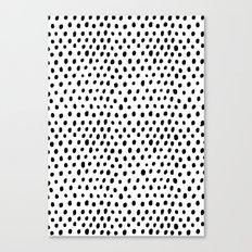 Polka dot rain Canvas Print
