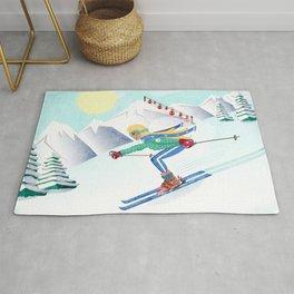 Skiing Girl Rug