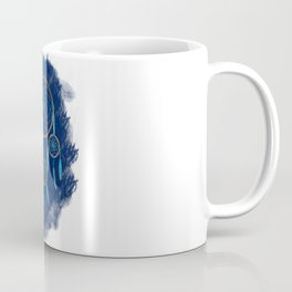 Dreamcatcher Turquoise: Blue background Coffee Mug