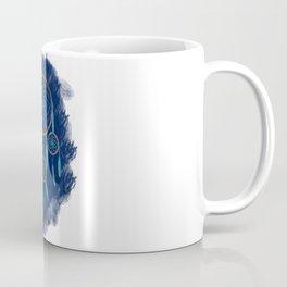Dreamcatcher Turquoise: Blue background Coffee Mug